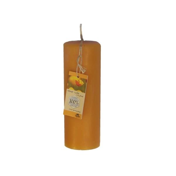 Dipam bijenwas Stompkaars 4,8 x 14 cm 23h per 4 stuks