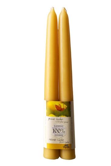 Dipam bijenwaskaars 2,2 x 20 cm 9h per 4 paar