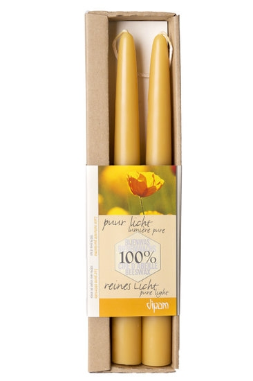 Dipam bijenwaskaars 2,2 x 30cm 14h WIT 2 in een doos per 9ds