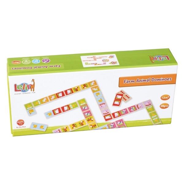 Domino - Boerderij - 28 stuks - Lelin Toys