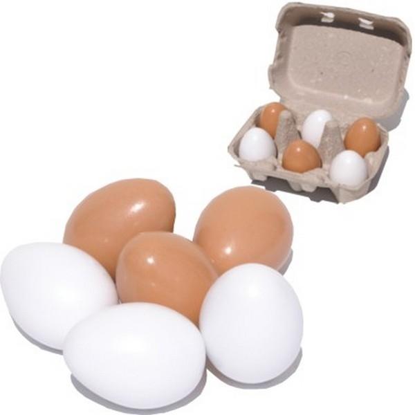 Eieren 6 in een wit doosje