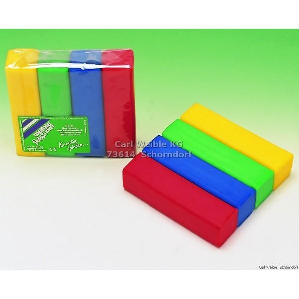 Fantasia Kneedwas Blok 4 kleuren totaal 400 gram