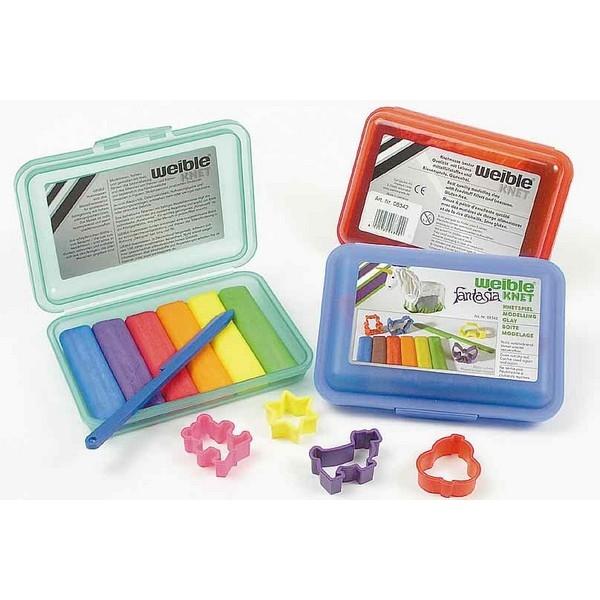 Fantasia Kneedwas Klikbox Mini Rol 6 kleuren + toebehoren