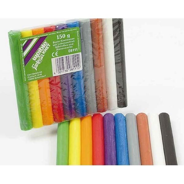 Fantasia Kneedwas Rol 10 kleuren totaal 150 gram