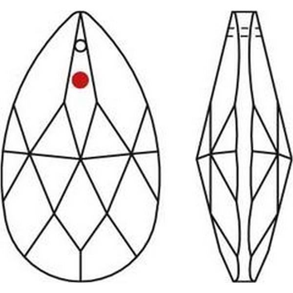 Feng Shui Kristal - Traan 28x17mm