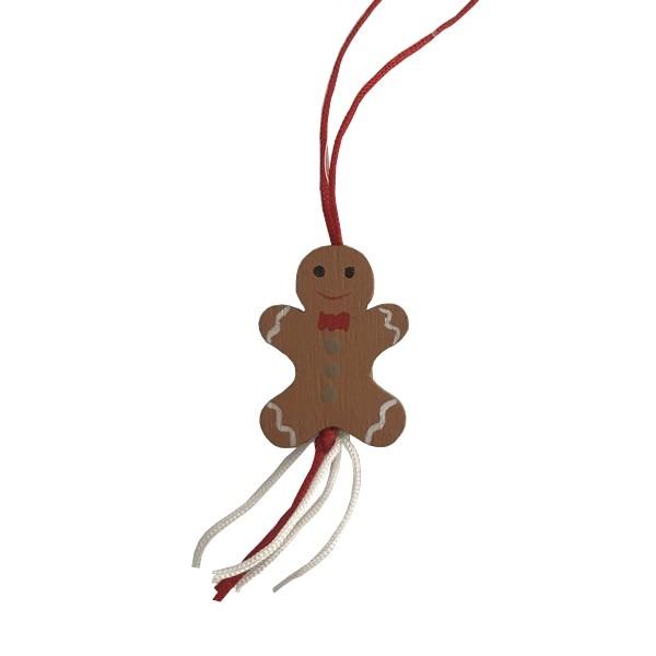 Gelukspoppetjes Gingerbread 50 stuks hout (72022)
