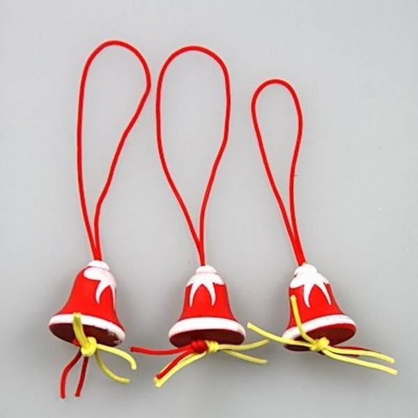 Gelukspoppetjes Kerstbel rood/wit 100 stuks (72006)