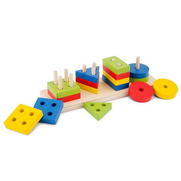 Geometrische vormen puzzel - New Classic Toys