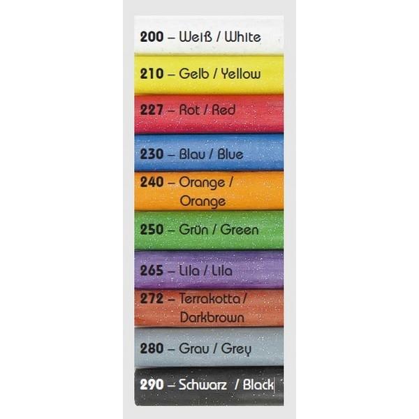 GLITTER Kneedwas Rol 6 kleuren totaal 90 gram