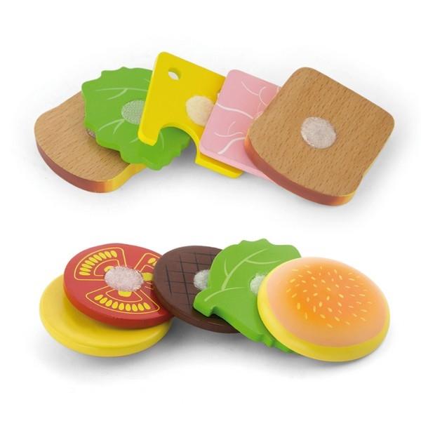Hamburger en Sandwich set- 11 delig - Viga Toys
