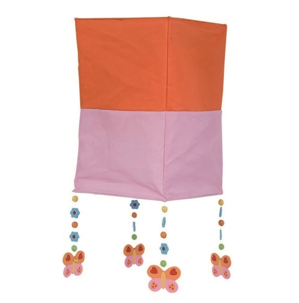 Hanglamp Vlinder Roze/Oranje vierkant