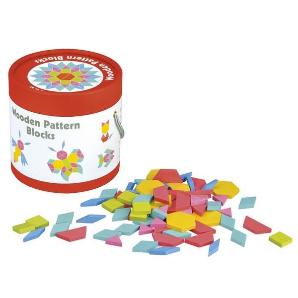 Houten patroon blokken - Lelin Toys