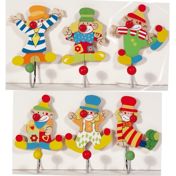 Kapstokhaakje Clown [6d/24DP]  nog 28 stuks !