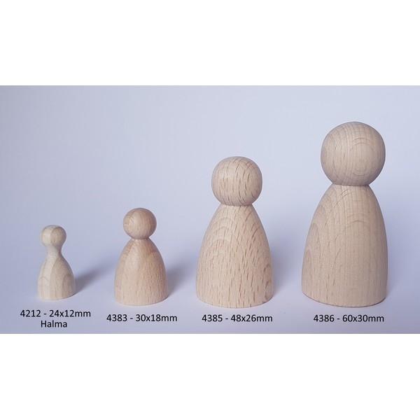 Kegelpoppetje - Bol 48x26 mm