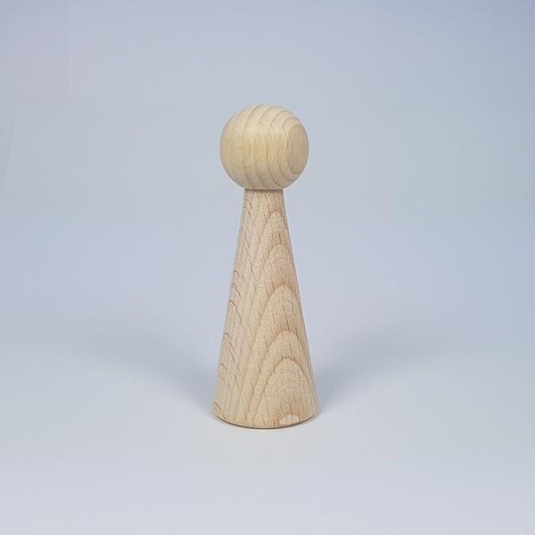 Kegelpoppetje - Lang 90x30 mm met armsgat