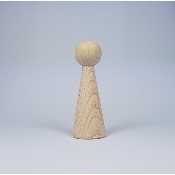 Kegelpoppetje - Lang 90x30 mm