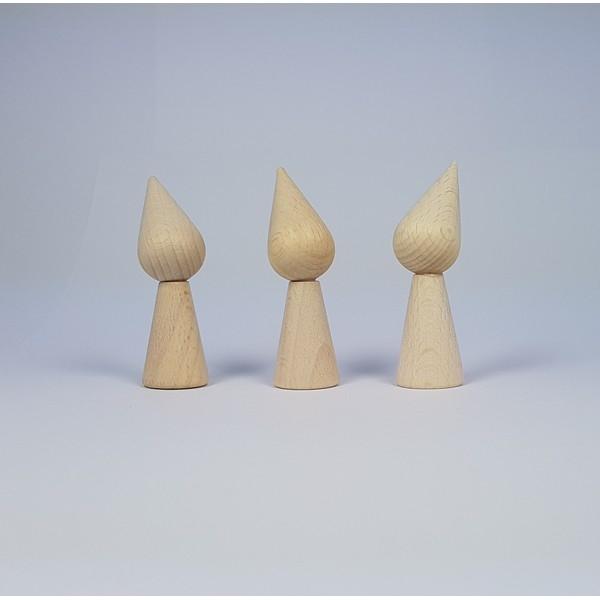 Kegelpoppetje - Puntmuts 70x20mm met armsgat