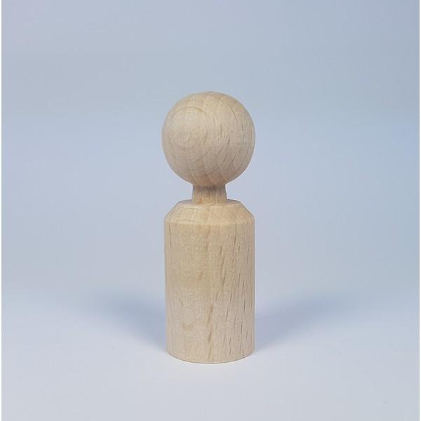 Kegelpoppetje - Recht 47x16 mm met nekje