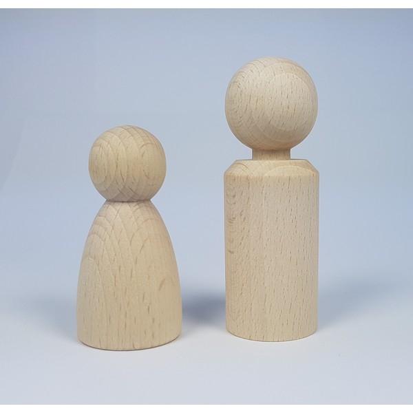 Kegelpoppetje - Recht 80x26 mm met nekje