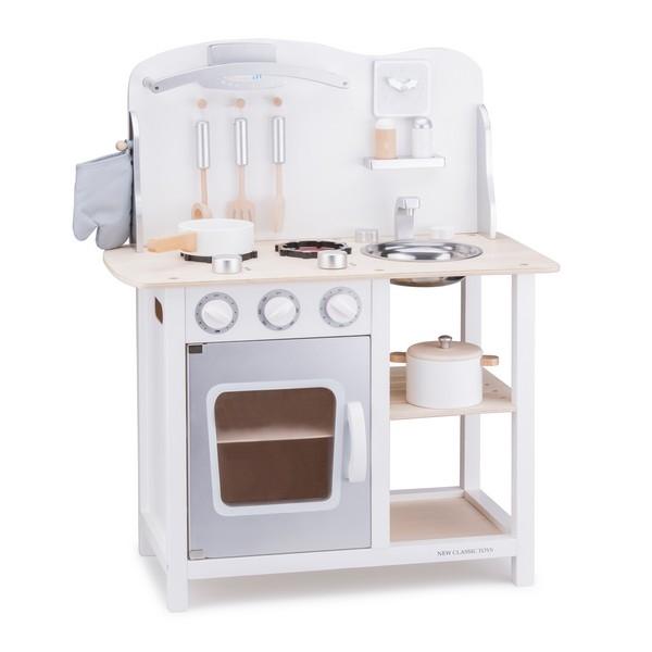 Keuken - Bon Appetit - Wit/Zilver - New Classic Toys