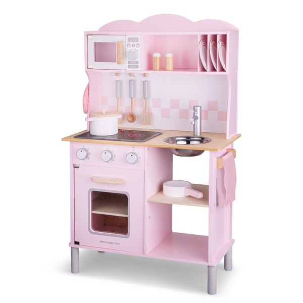 Keuken - Modern, elektrisch koken - Roze - New Classic Toys