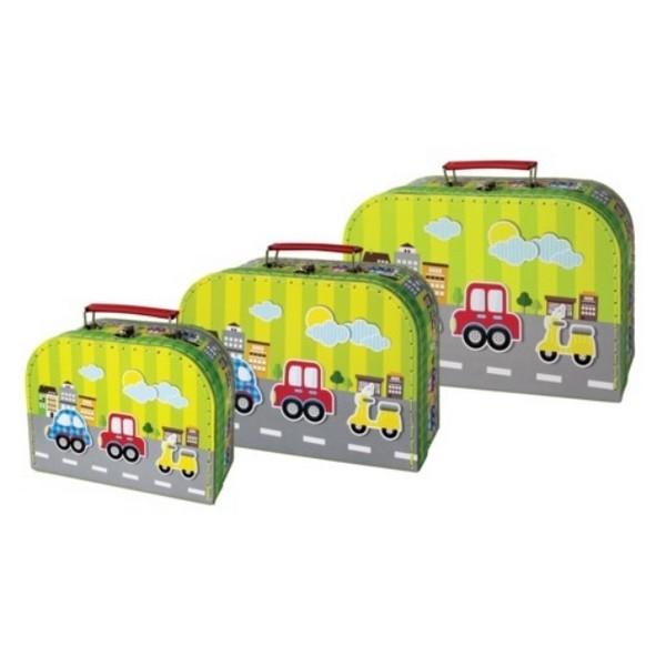 Kofferset Voertuigen (set van 3)