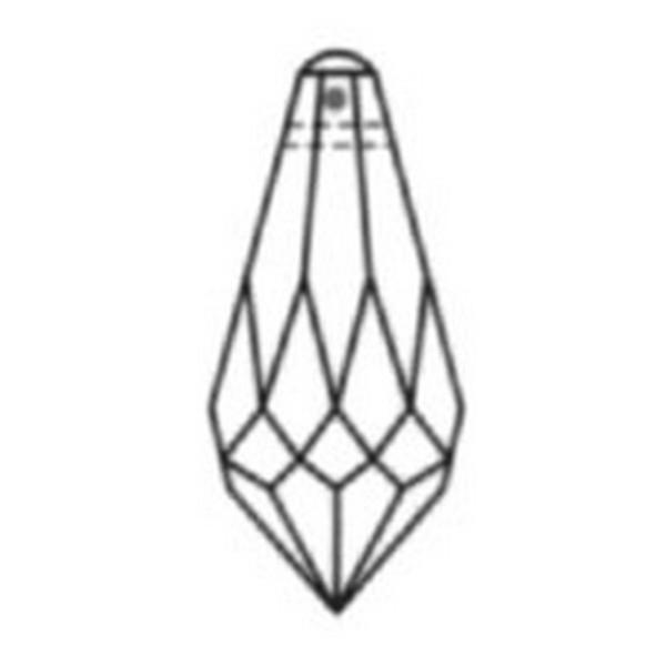 Kristal/Druppel mini 11x5,5mm Rose, aanbieding