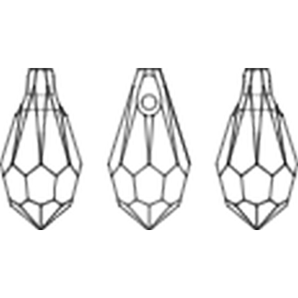 Kristal/Druppel mini 11x5,5mm SIAM, donker rood, aanbieding
