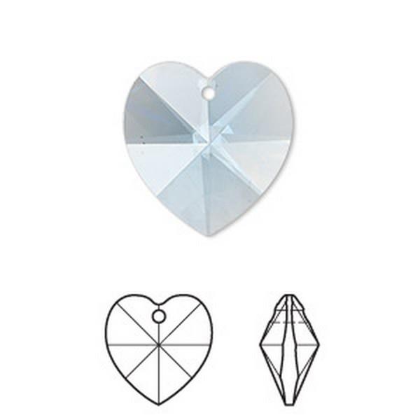 Kristal/Hartje 20mm, aanbieding  (minder facetten)