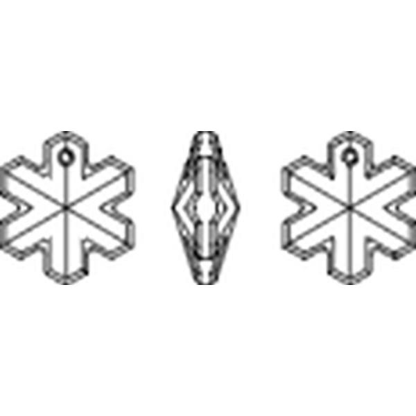 Kristal/Sneeuwvlok 20mm