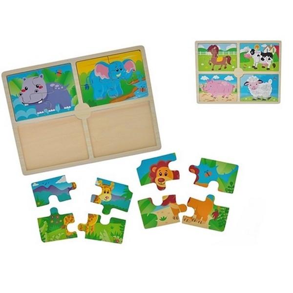 Legpuzzel met 4 puzzeltjes - Safari