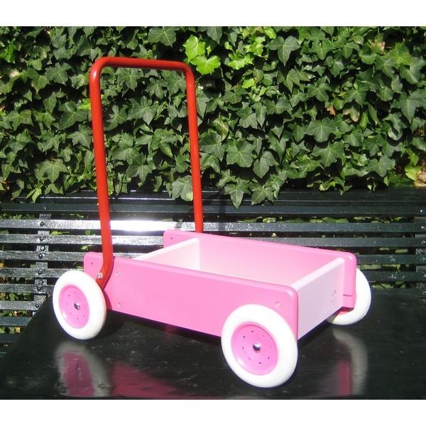 Loopwagen van Bueren roze (BW 10.) Nieuw