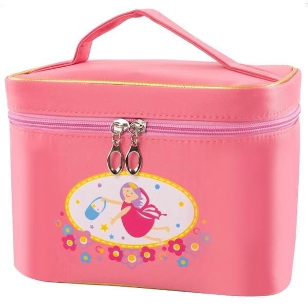 Make up set incl accessoires in roze tas
