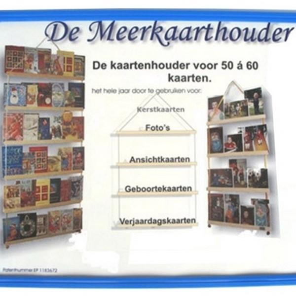 Meerkaarthouder - Klein (4 latten) (80x37,5cm)