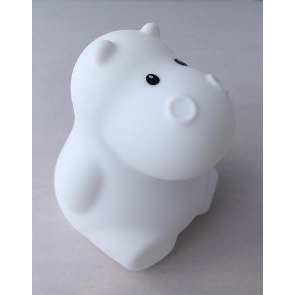 Nachtlamp Siliconen Nijlpaard - Klein