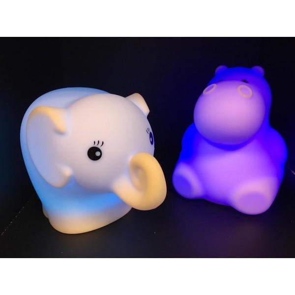 Nachtlamp Siliconen Olifant - Klein