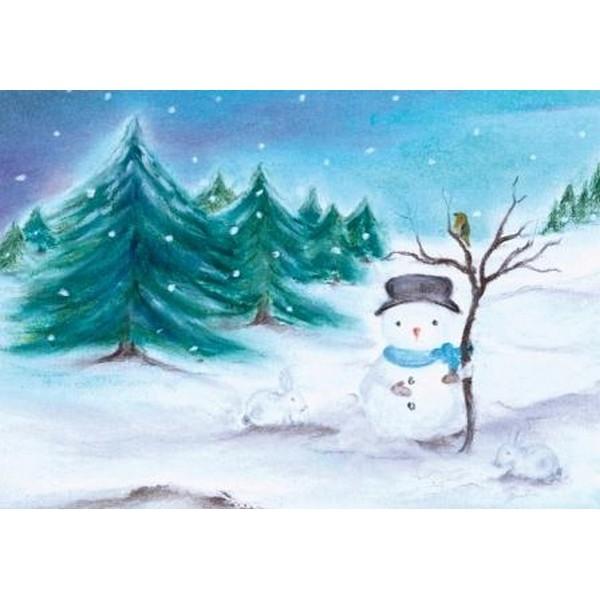 Oliepastelkaart De Sneeuwpop nr 2 per 10 stuks