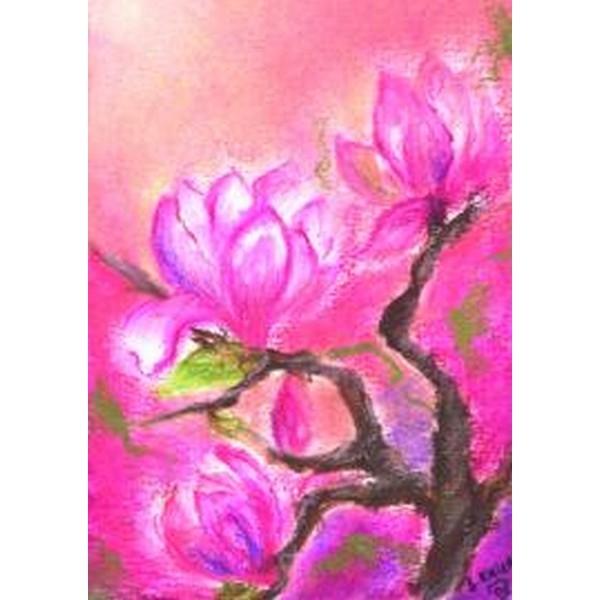 Oliepastelkaart Magnolia per 10 stuks