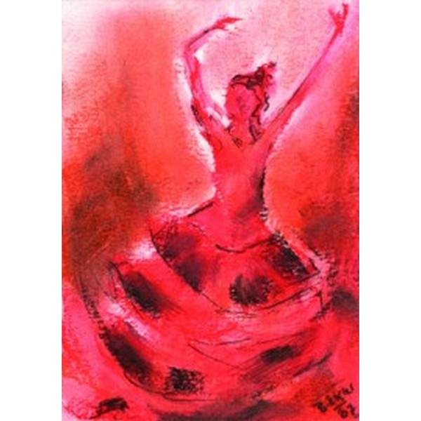 Oliepastelkaart Spaanse Dans per 10 stuks