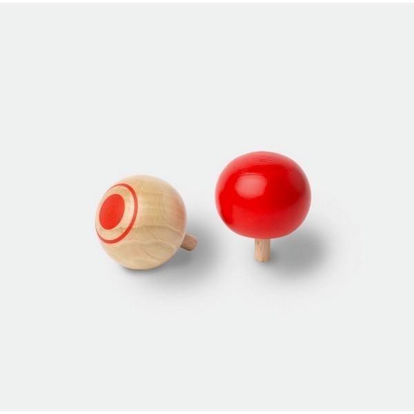 Omkeertolletje [2 kleuren, blank en rood]