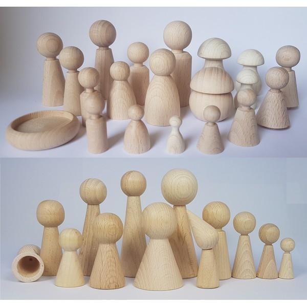Paddenstoel hout - Smal 50 x 28 mm - beuken gebleekt