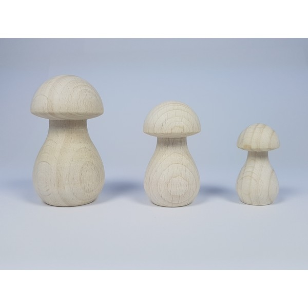 Paddenstoel hout - Smal 68 x 35 mm - beuken gebleekt