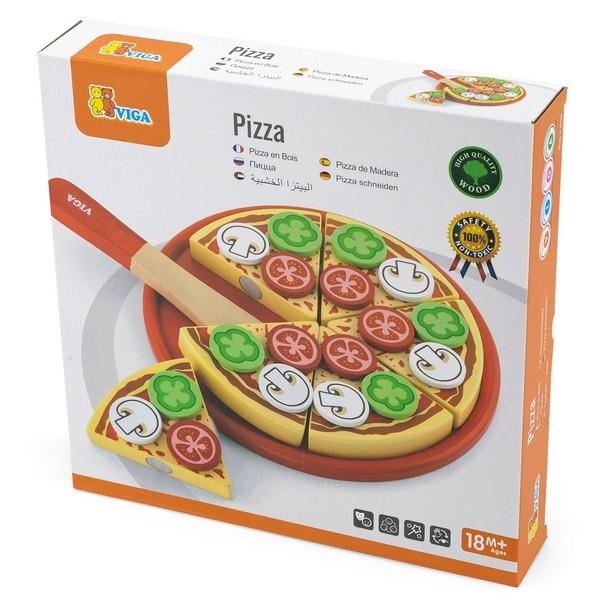 Pizza set vegetarisch - Viga Toys
