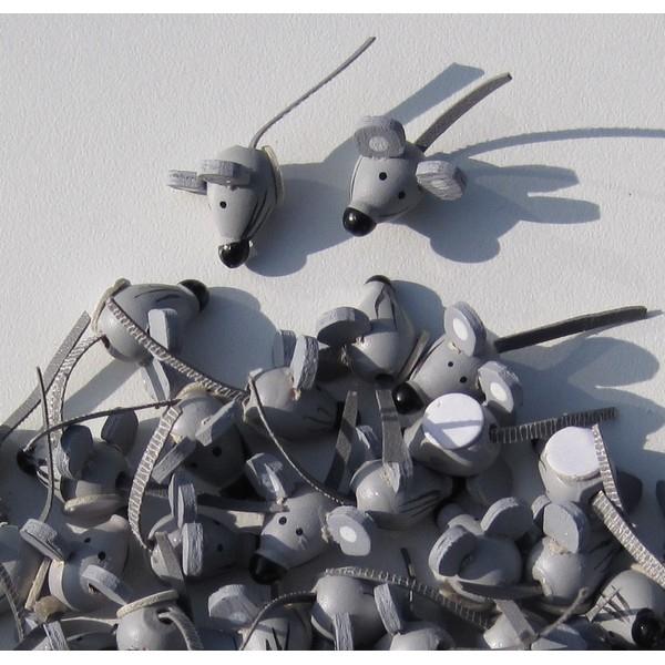 Plakker Muisje grijs 1,5cm 100 stuks (14009)