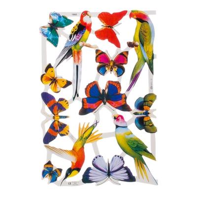 Poëzieplaatje (10st) Vlinders met vogels