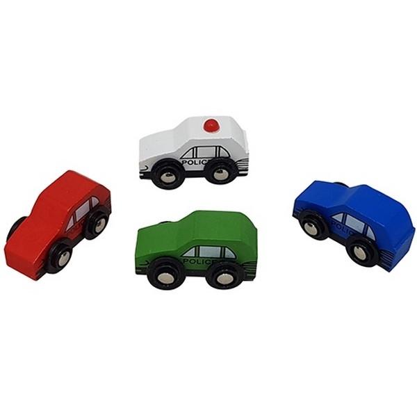 Politieauto's, set van 4 kleuren