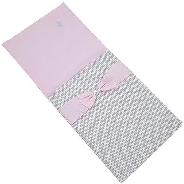 Poppenwagen Dekje Elegance Grijs/Roze