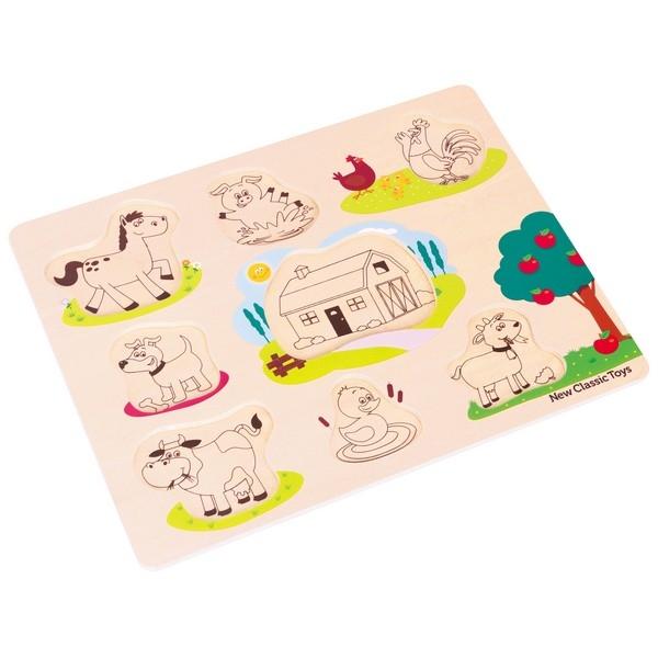 Puzzel - Boerderij - 8 stukken - klein - New Classic Toys