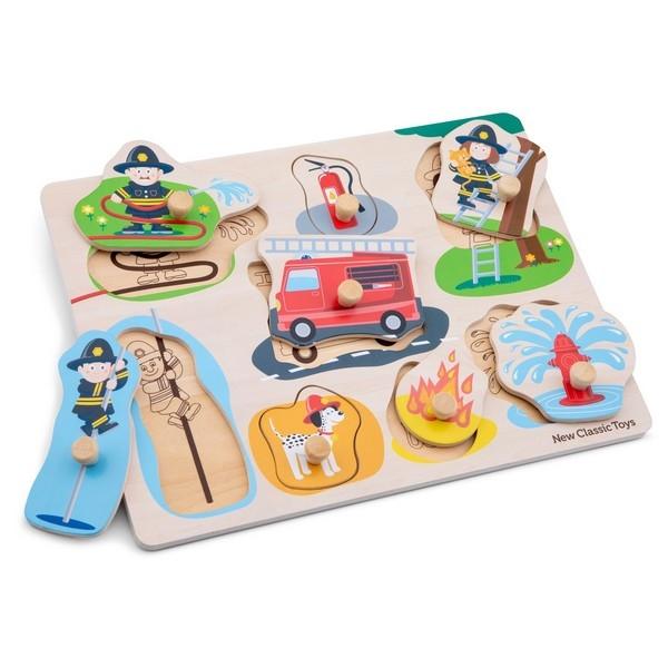 Puzzel - Brandweer - 8 stukken - klein - New Classic Toys
