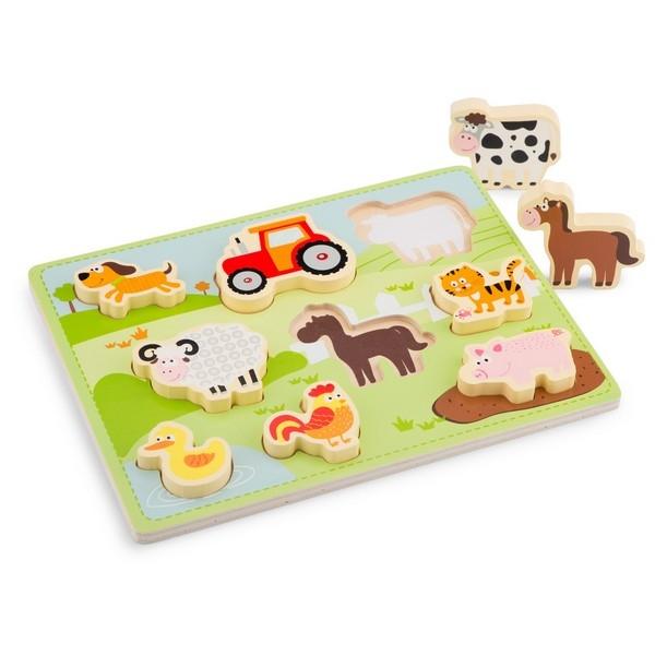 Puzzel - Chunky Farm - New Classic Toys